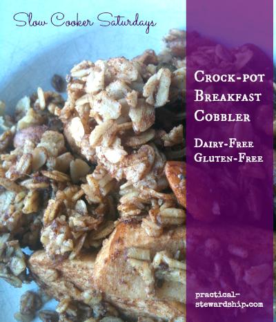 Dairy-Free Gluten-Free Crock-pot Breakfast Cobbler