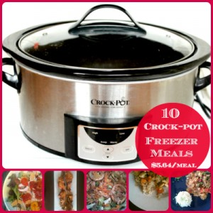 10 Crock-pot Freezer Meals Collage