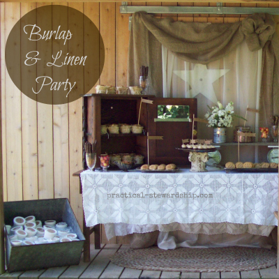 Diy Burlap And Linen Birthday Party With A Dessert Bar