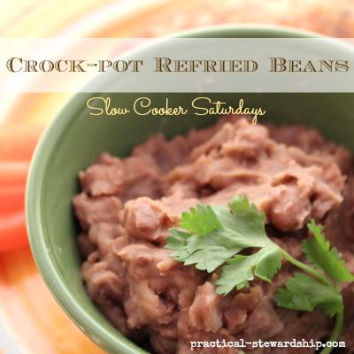 Crock-pot Refried Beans
