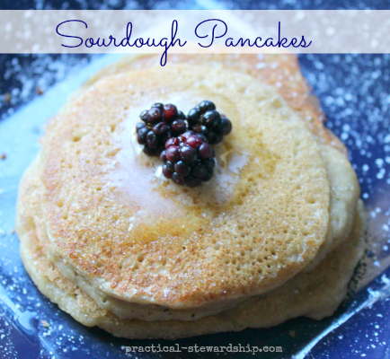Soaked Sourdough Pancakes, Dairy-Free, Egg-Free