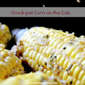 Buttered Crock-pot Corn on the Cob