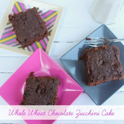 Whole Wheat Chocolate Zucchini Cake