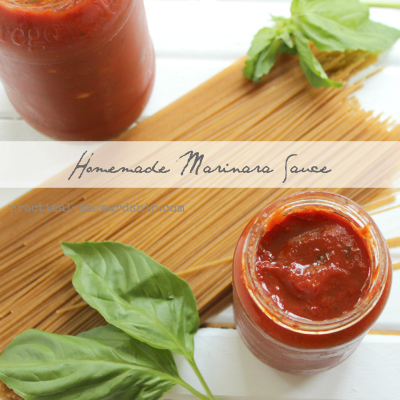 Homemade Marinara Sauce in the crock-pot