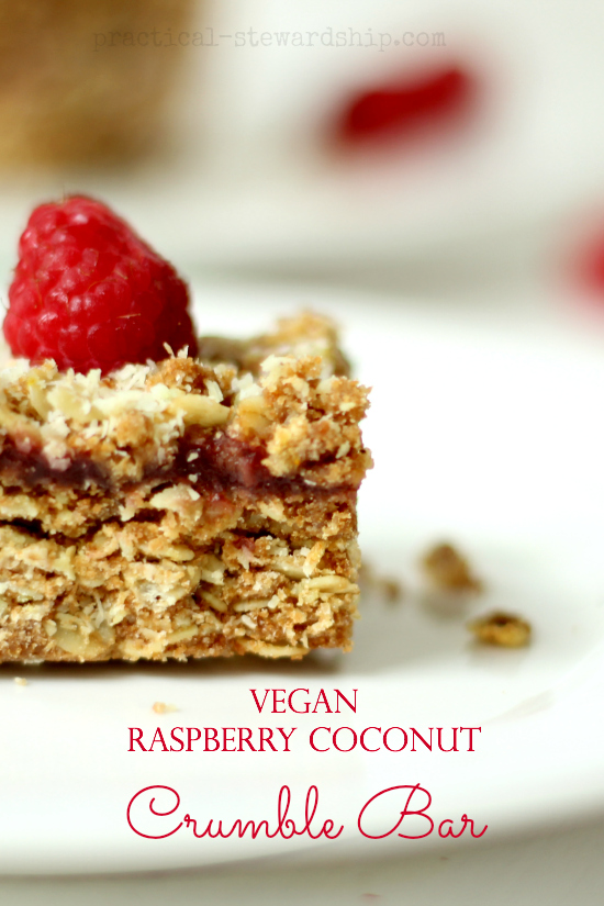 Raspberry Coconut Crumble Bars Stacked Recipe
