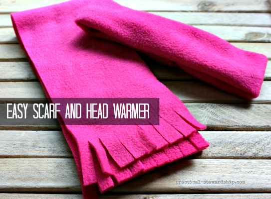 Easy DIY No Sew Scarf - Practical Stewardship