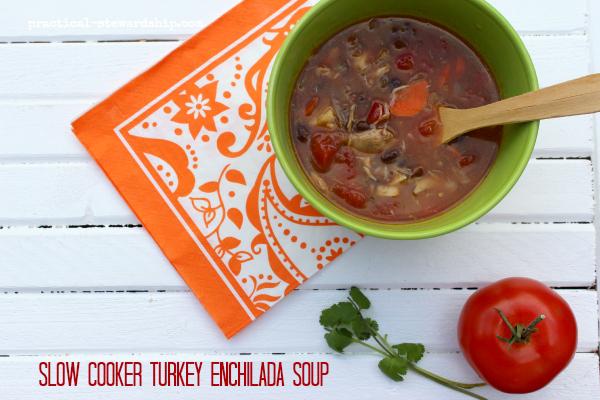 Slow Cooker Turkey Enchilada Soup
