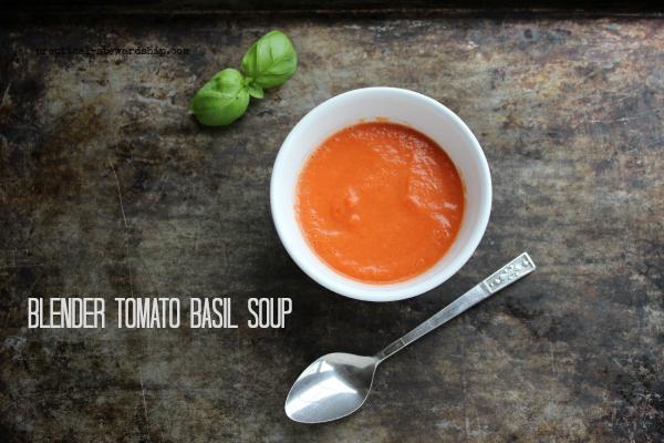 Blender Tomato Basil Soup