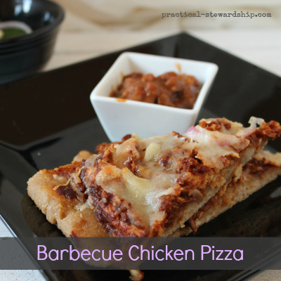 Barbecue Chicken Pizza with Cheese