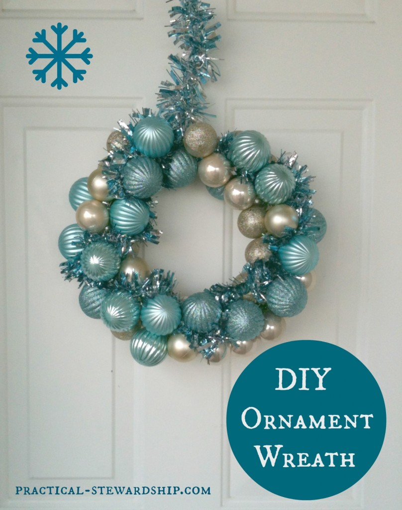 Diy Ornament Wreath Tutorial Practical Stewardship