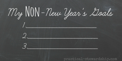 My Non-New Year's Goals