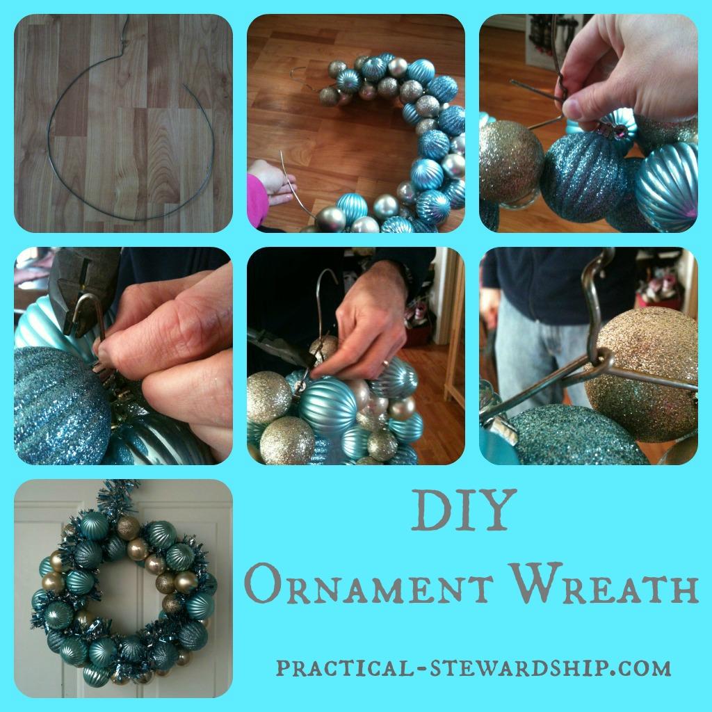 Ornament Wreath Collage @ practical-stewardship.com