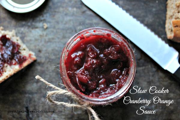 Crock-pot Cranberry Orange Sauce
