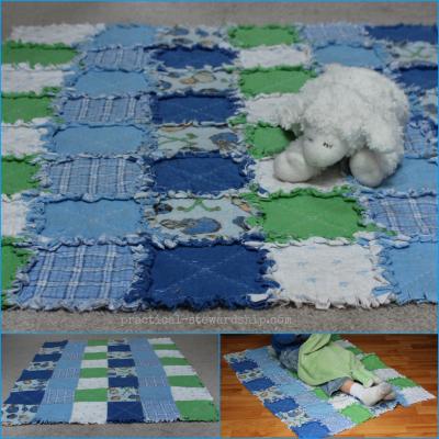 Block Rag Quilt Collage