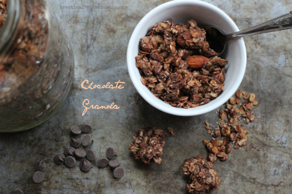 Chocolate Granola, Crock-pot Option, G-F, D-F, V