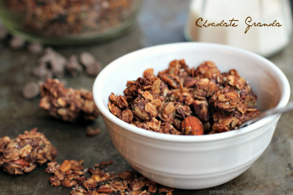 Crock-pot Chocolate Granola, D-f, G-f