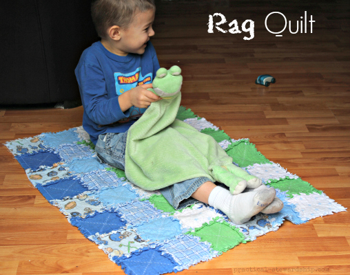 DIY Rag Strip Quilt Tutorial