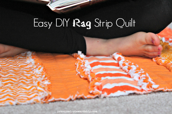 Easy DIY Rag Strip Quilt