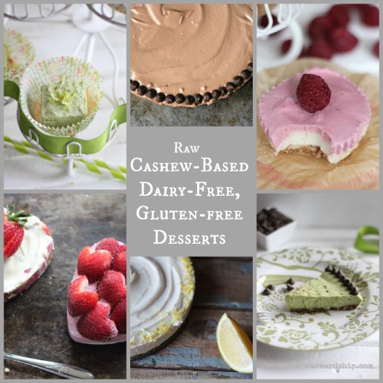 Raw Cashew-Based Desserts, D-F. G-F, V