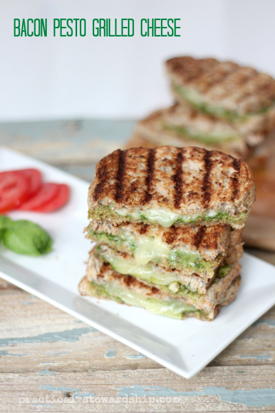 Bacon Pesto Grilled Cheese Sandwich