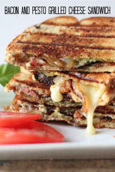 Bacon and Pesto Grilled Cheese Sandwich