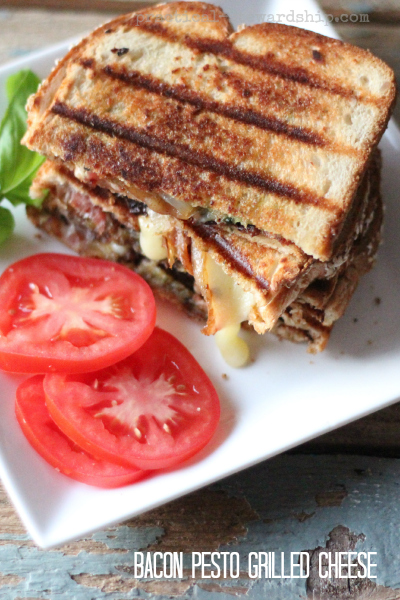 Bacon with Pesto and  Grilled Cheese