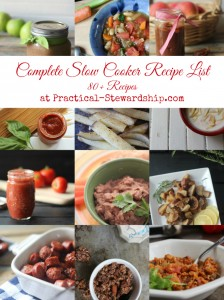 Complete Slow Cooker Recipe List