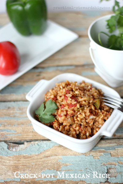 Crock-pot Mexican Rice with Cilantro