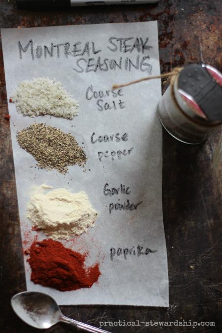 Montreal Steak Seasonin with 4  Ingredients