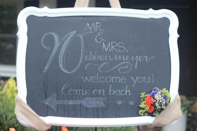 Chalkboard Font Wedding Welcome