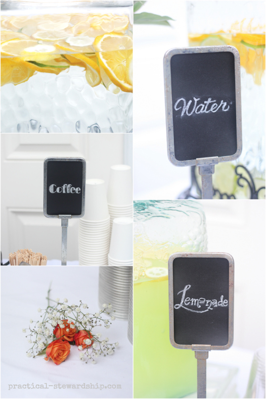 Drinks with Chalkboard Font