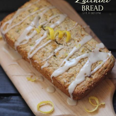 Lemon Zucchini Bread with Lemon Glaze, D-f, Vegan opt., G-f opt.