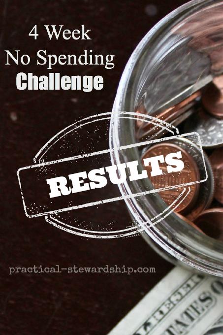 4 Week No Spending Challenge Results
