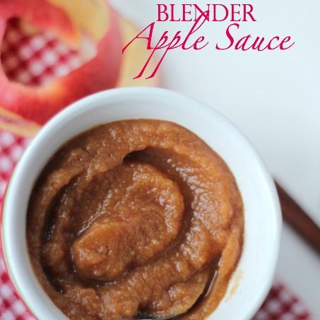 No Cook Blender Apple Sauce