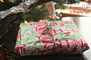 Re-purposed Fabric to Wrapping Paper