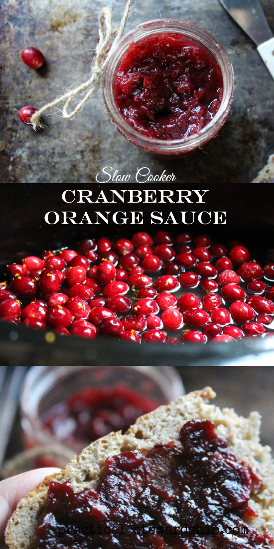 Slow Cooker Cranberry Orange Sauce