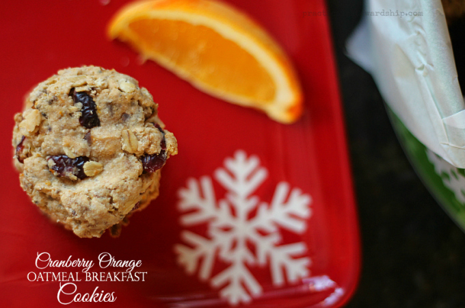 Cranberry Orange Oatmeal Breakfast Cookies
