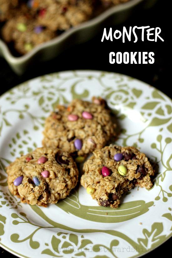 Dairy-Free, Egg-free, Gluten-free Monster Cookies