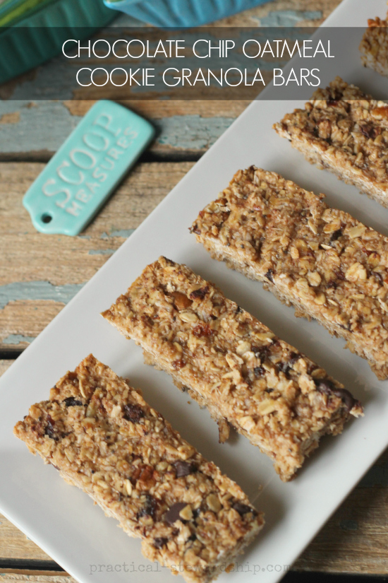 CHOCOLATE CHIP OATMEAL COOKIE GRANOLA BARS