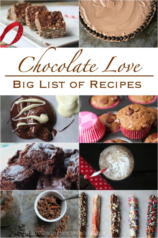Chocolate Love Big List of Chocolate Recipes