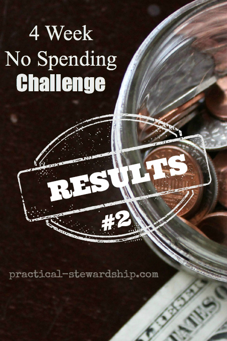 4 Week No Spending Challenge Results #2