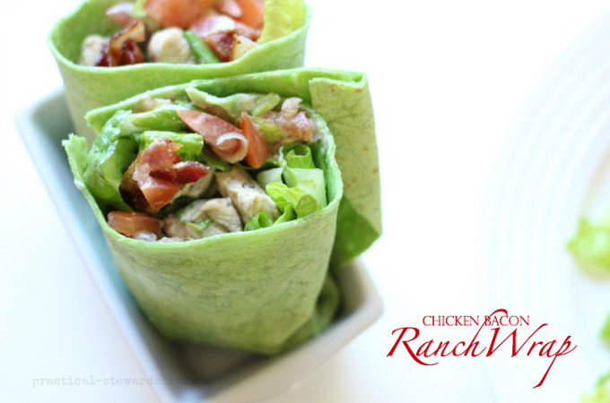 Chicken Bacon Ranch Wrap, Meal On-the-Go