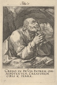 """Peter Praying"" by Hendrick Goltzius"