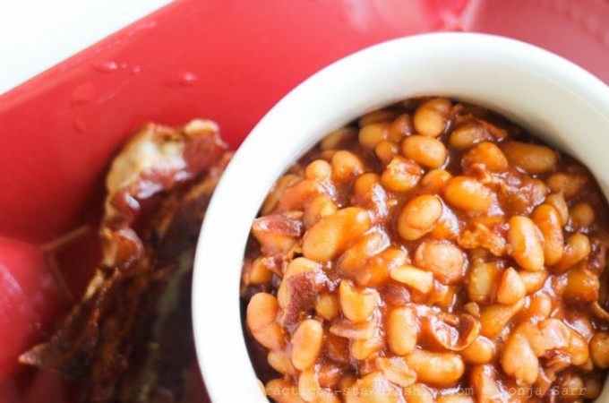 Almost from Scratch Crock-pot Baked Beans with a Stove Top Option