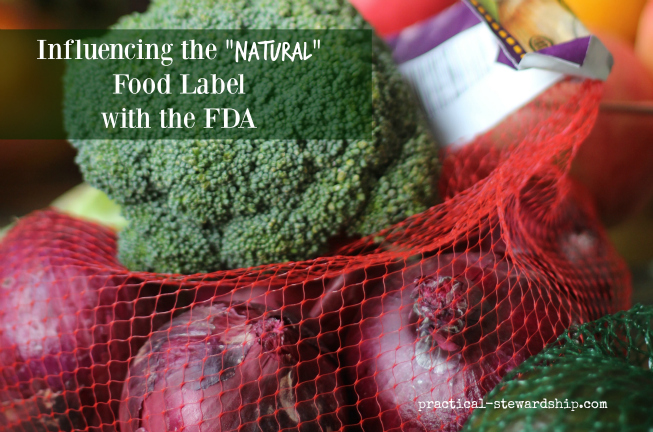 "Influencing the ""Natural"" Food Label with the FDA"