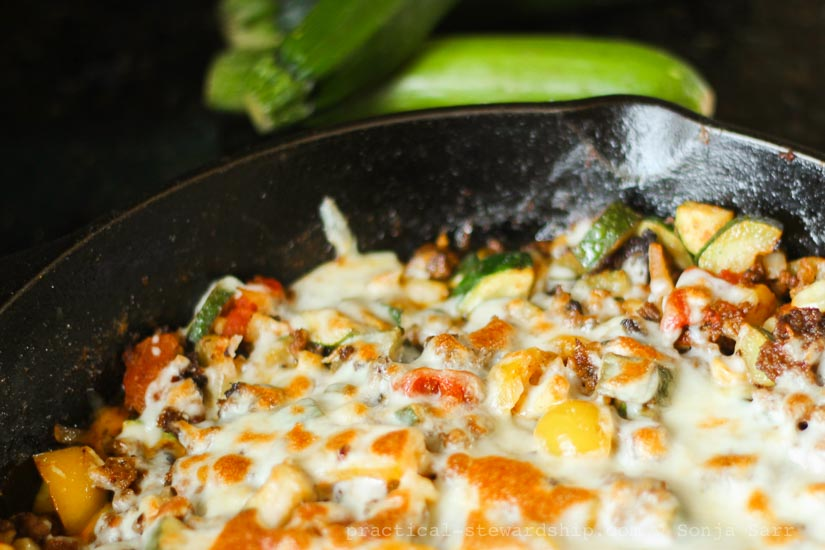 Meaty Zucchini Skillet Dinner-3