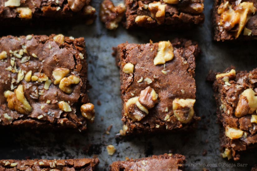 Dairy-free Dark Chocolate Brownies-5