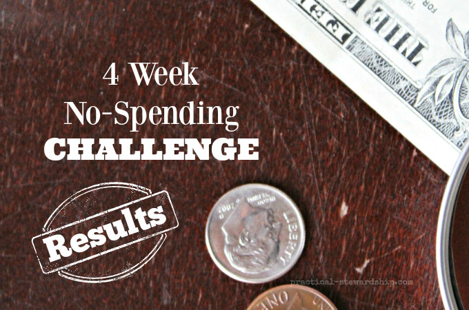 No-Spending Challenge Results #4