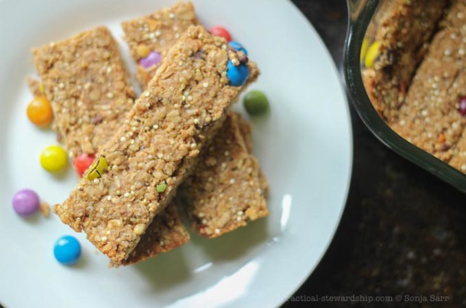 5 Ingredient Chocolate Chip Peanut Butter Quinoa Granola Bars