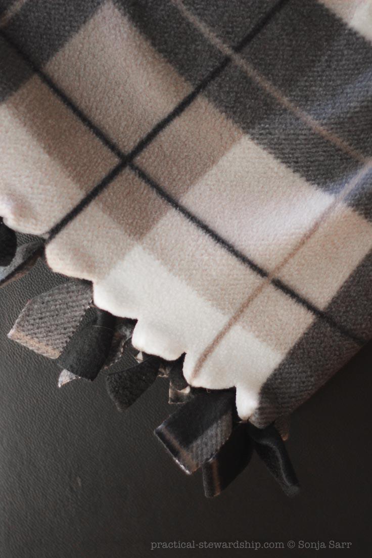 Diy No Sew Fleece Blanket Practical Stewardship